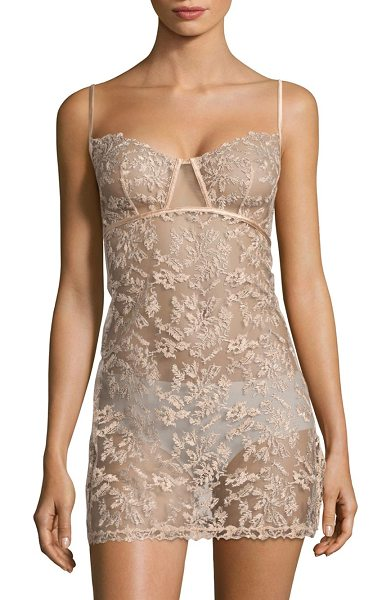 La Perla autografo embroidered tulle babydoll in nude - From the Autografo Collection. Calligraphy-effect...