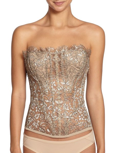La Perla Luminescence lace bustier in gold