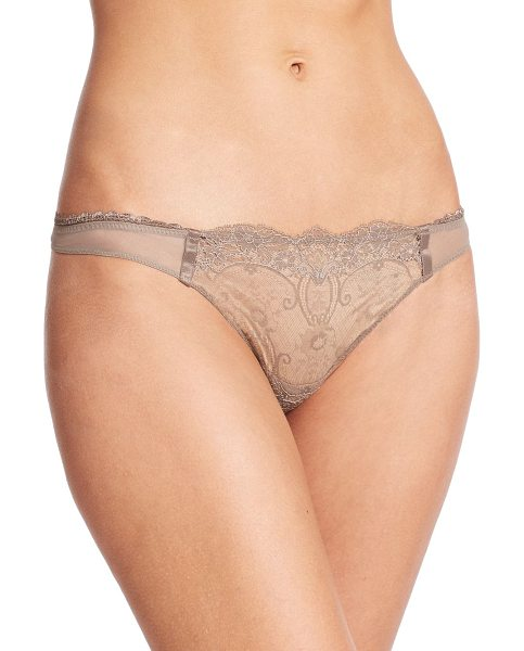 La Perla Magnolia thong in nude - Ethereal Leavers lace adds romantic allure to this...