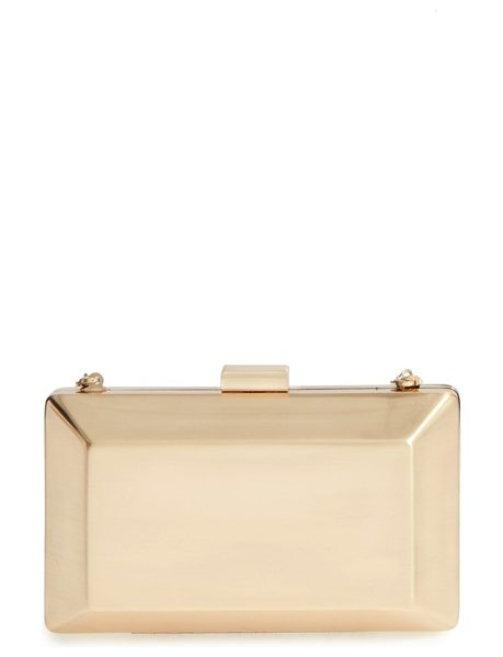 La Regale metallic box clutch in antique gold - Go bold with gold and add a metallic box clutch to your...
