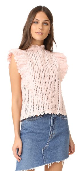 La Vie by Rebecca Taylor celsie eyelet top in pink - A delicate, feminine La Vie Rebecca Taylor blouse with...