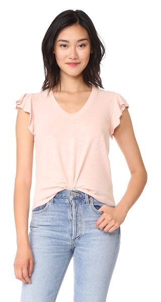 LA VIE BY REBECCA TAYLOR short sleeve washed textured jersey top - A gauzy, linen-blend jersey La Vie Rebecca Taylor tee...
