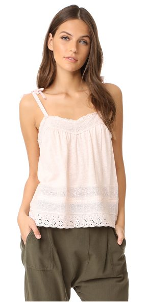 La Vie by Rebecca Taylor sleeveless lace cami in shell pink - Lace trim brings delicate, graceful style to this La Vie...