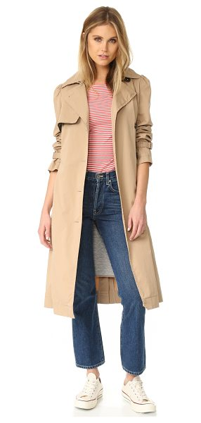 LA VIE BY REBECCA TAYLOR twill trench coat - A removable, quilted inset lends warmth to this La Vie...