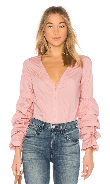 L'Academie Emma Blouse in pink - The Emma Blouse by L'Academie is the perfect counterpart...
