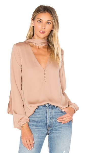 L'Academie The 70's Blouse in tan - Channeling days gone by all day long. The 70s Blouse by...