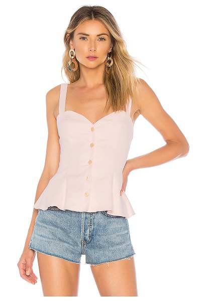 L'Academie The Brasilia Top in blush - Self: 55% linen 42% rayon 3% elastaneLining: 100% rayon....