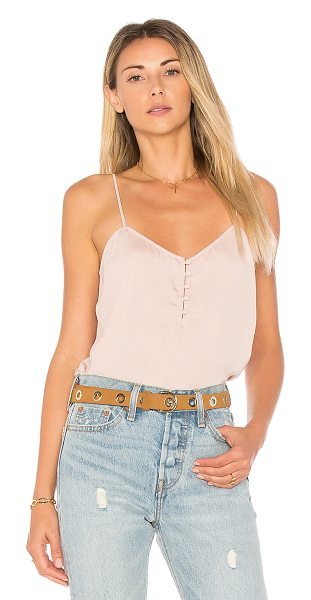 L'Academie The Button Cami in blush - A closet staple gets a re-do with The Button Cami by...