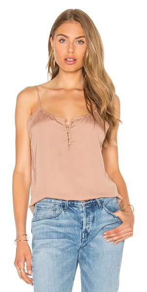 L'ACADEMIE The Button Cami Blouse - 100% poly. Hand wash cold. Adjustable shoulder straps....