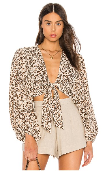 L'Academie the christophe top in brown leopard