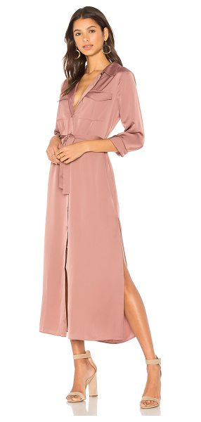 L'Academie The Long Sleeve Shirt Dress in rose - Infusing a lightweight feel into a traditional piece,...