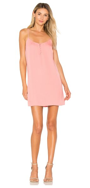 L'Academie The Mini Slip Dress in salmon - Make your mark in the of-the-moment Mini Slip Dress by...