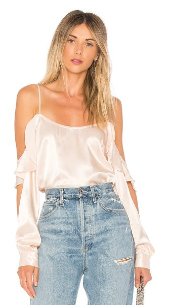 L'Academie The Open Sleeve Blouse in nude