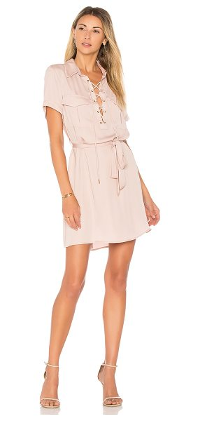 L'Academie The Safari Dress in blush - Off duty casual meets boss babe in The Safari Dress by...