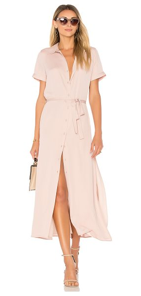 L'Academie The Shirt Dress in blush - Infusing a lightweight feel into a traditional piece,...