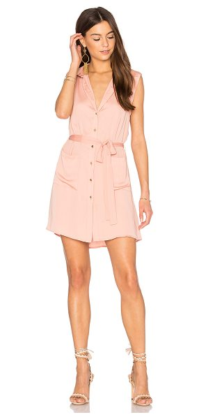 L'Academie The Sleeveless Shirt Dress in peach - Infusing a lightweight feel into a traditonal piece, The...
