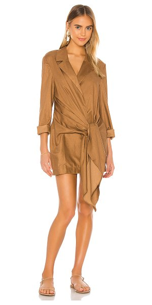 L'Academie the snoh mini dress in tiramisu brown