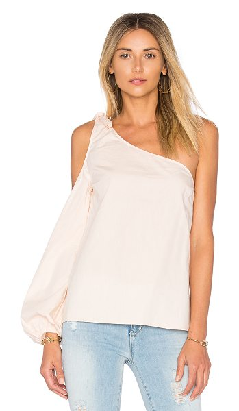 L'Academie x REVOLVE The Asymmetric Shoulder Blouse in pink - With one shoulder bared, The Asymmetric Shoulder Blouse...