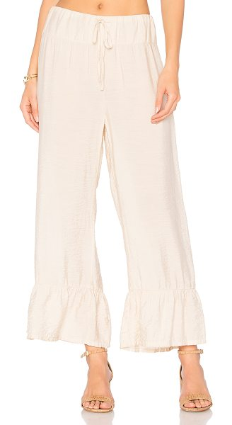 LACAUSA Amelia Bloomer in beige - Poly blend. Hand wash cold. Drawstring waist. Shirred...
