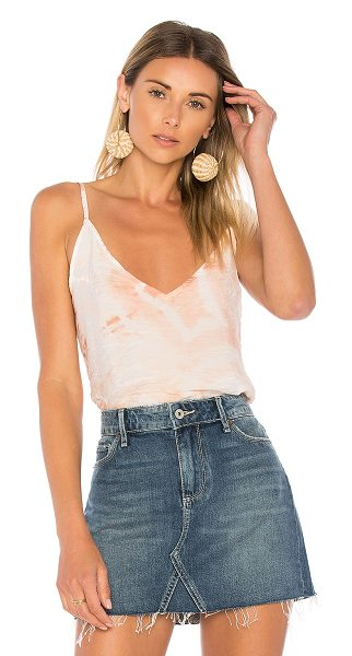 LACAUSA Sofia Slip Cami in peach - 84% rayon 16% nylon. Crinkled fabric. Intentional color...