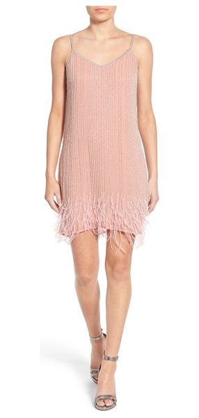 LACE & BEADS texas embellished slipdress in pink - Channel the charm of a 1920's flapper in this ethereal...