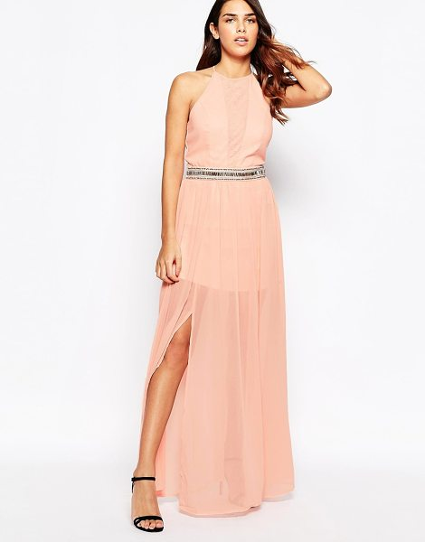 Laced In Love Maxi dress with overlay skirt in pink - Maxi dress by Laced In Love, Super lightweight chiffon,...