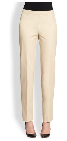 Lafayette 148 New York jodhpur cloth bleecker pants in khaki - A work-to-weekend classic, tailored from cotton chino in...