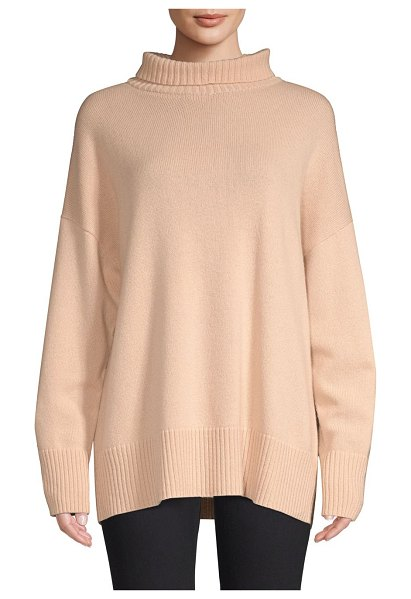 Lafayette 148 New York cashmere turtleneck in shellflower - Sophisticated oversized turtleneck made from luxurious...