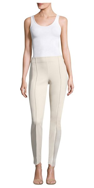 Lafayette 148 New York acclaimed stretch gramercy pants in sand - Pinched seams add extra character to a slim city style...