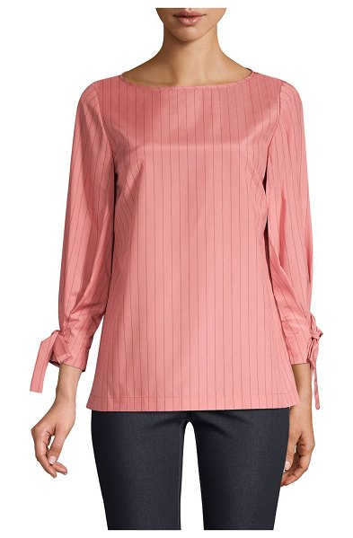 Lafayette 148 New York kimber blouse in vintage rose - ONLY AT SAKS. Tie-cuffs lend a feminine sensibility to...