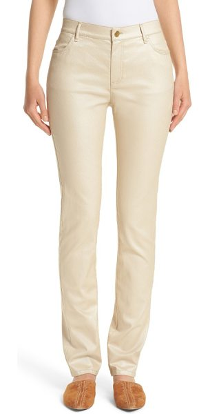 Lafayette 148 New York curvy fit skinny jeans in champagne