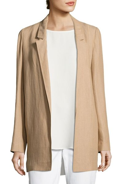 LAFAYETTE 148 NEW YORK mattia linen jacket - Notch lapels elevate open-front linen jacket. Long...