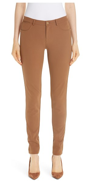 Lafayette 148 New York mercer acclaimed stretch skinny pants in metallic