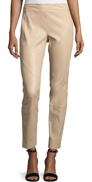 Lafayette 148 New York Napa Stretch-Leather Leggings in sandalwood - Lafayette 148 New York napa stretch-leather leggings....