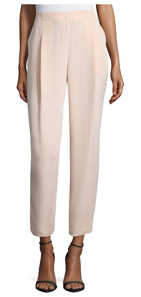 Lafayette 148 New York Pleated-front cropped pants in peach sorbet - Lafayette 148 New York woven pants. Side slip pockets....
