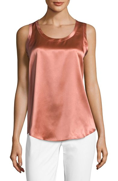 Lafayette 148 New York reversible perla tank in adobe - This versatile reversible shell is crafted out of pure...
