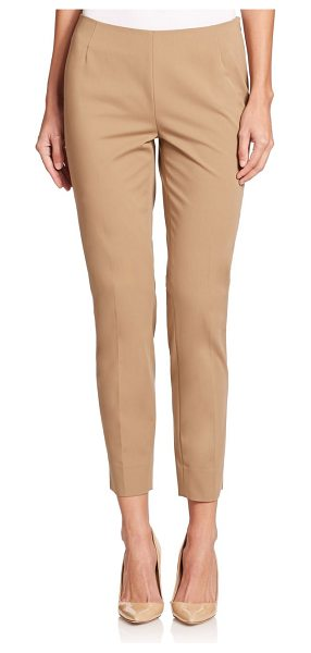 Lafayette 148 New York Stanton bi-stretch ankle pants in chai - Classic, polished ankle pants in slim silhouetteSelf...