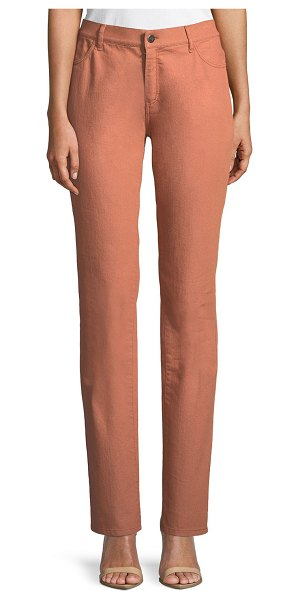LAFAYETTE 148 NEW YORK Thompson Colored Slim-Leg Jeans in adobe - EXCLUSIVELY AT NEIMAN MARCUS Lafayette 148 New York...
