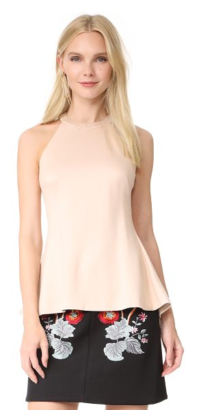 L'Agence batista sleeveless top in frappe - This formfitting ponte jersey top is finished with a...