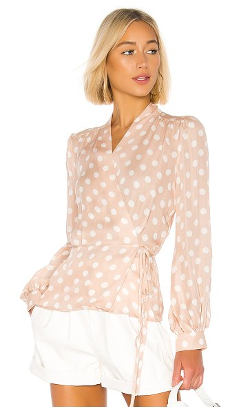 L'Agence cara wrap blouse in petal & ivory