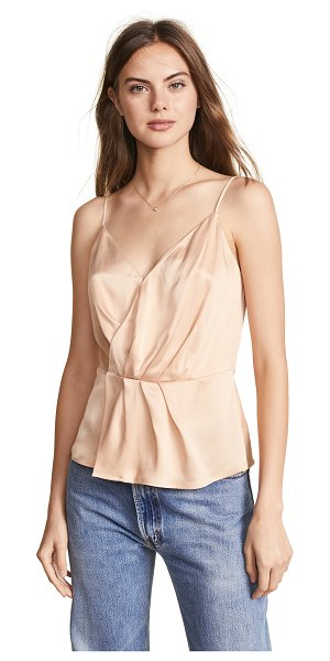 L'Agence chiara twist top in marcona almond - Fabric: Silk weave Adjustable straps Wrap silhouette...