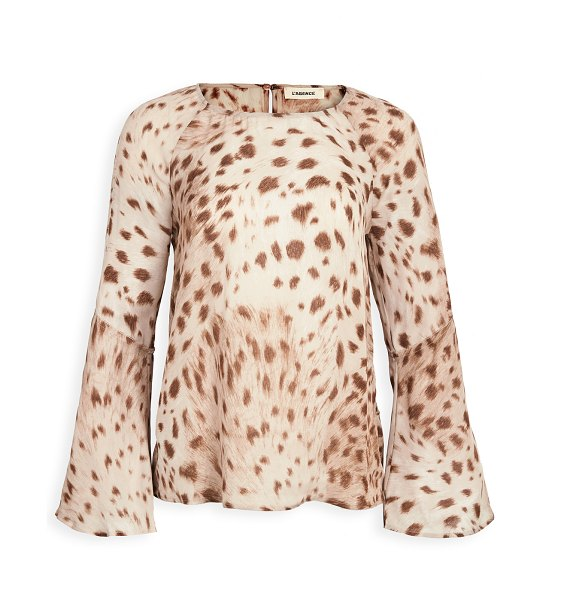 L'Agence dylan bell sleeve blouse in cacao