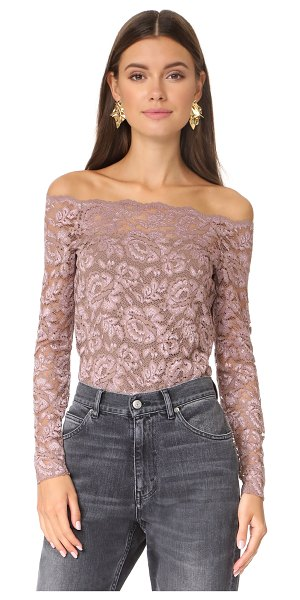 L'AGENCE heidi off shoulder lace top - An off-shoulder L'AGENCE blouse, composed of soft...