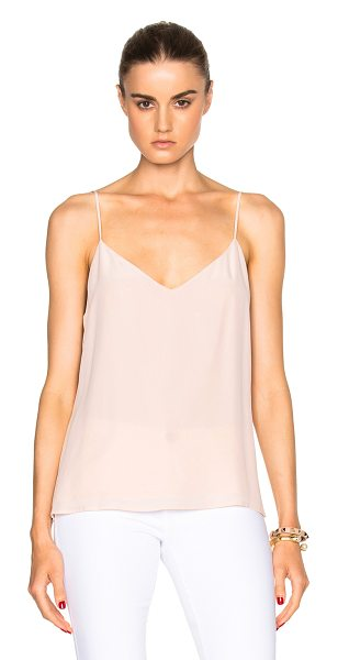 L'Agence Jane Top in pink - 100% silk.  Made in China.  Adjustable shoulder straps.