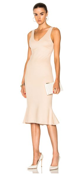 L'Agence Lucia Dress in neutrals - Self: 93% viscose 7% spandex - Lining: 90% poly 10%...