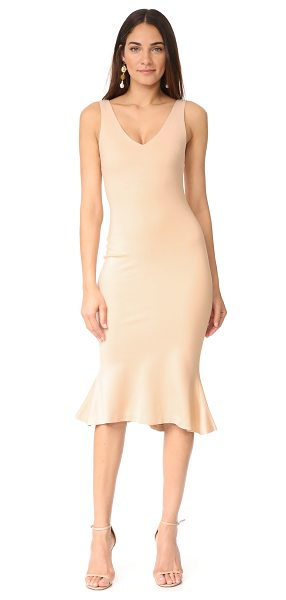 L'Agence lucia v neck dress in frappe - A simply cut L'AGENCE midi dress in a formfitting...