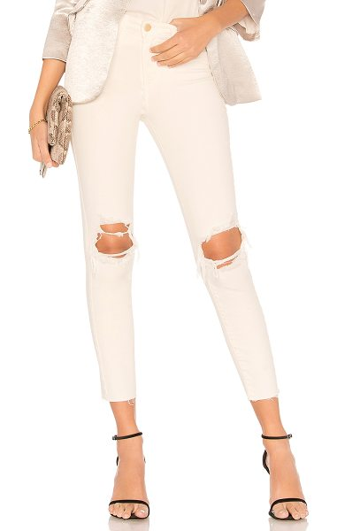 """L'AGENCE Margot High Rise Skinny Jean - """"94% cotton 4% poly 2% spandex. Intentionally destroyed..."""