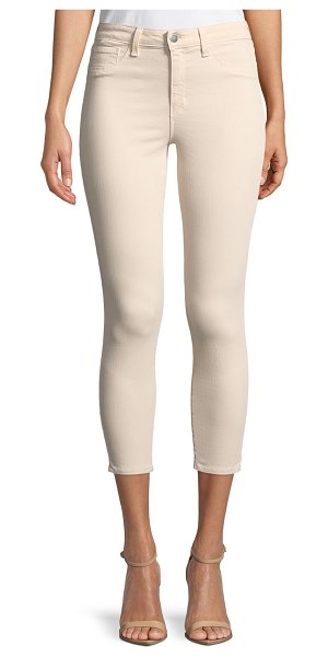 "L'Agence Margot High-Rise Skinny Ankle Jeans in light pink - L'Agence ""Margot"" jeans in stretch-denim. Approx...."