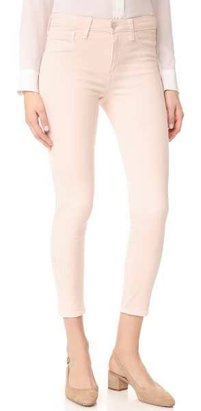 L'Agence margot skinny ankle jeans in quartz - A pastel wash adds soft color to these cropped L'AGENCE...