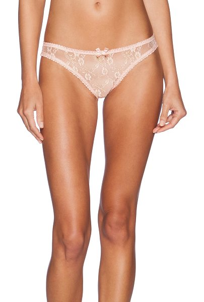 L'Agent by Agent Provocateur Monica mini brief in peach - 53% poly 47% polyamide. Hand wash cold. Elastic stretch...